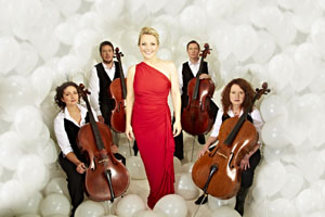 Claire Martin with the Montpellier Cello Quartet